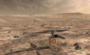 Une image d'illustration du «Mars Helicopter» que la Nasa prévoit d'envoyer sur Mars en 2020-2021.