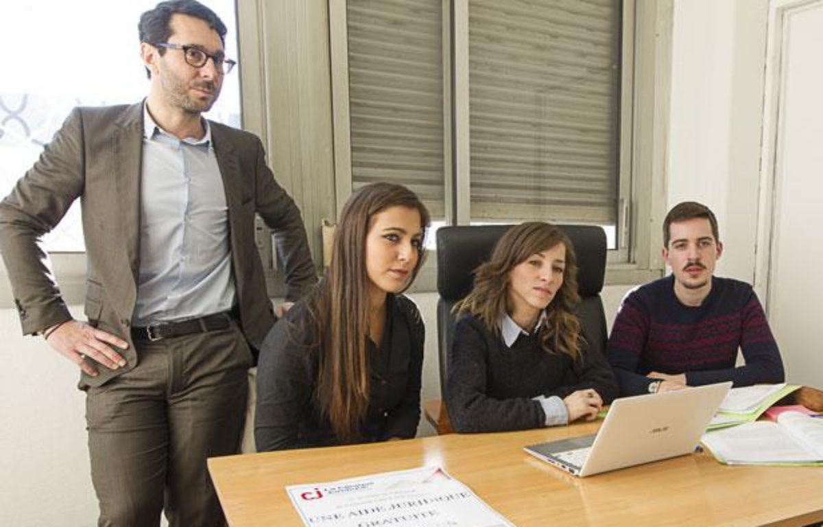 Saint-Denis, le 11 decembre 2013. Clinique juridique, conseil juridique solidaire par les étudiants en droit qui dispensent une aide juridique gratuite au sein de l'université. – A. Gelebart / 20 Minutes