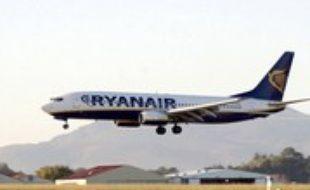 ©PHOTOPQR/SUD OUEST/LAPEGUE Bertrand - BIARRITZ 31/10/2006. AERPORT BAB. RYANAIR AEROPORT