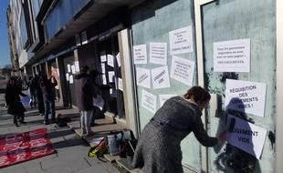 Une action en faveur d'un logement pour tous en janvier 2013 à Rennes.