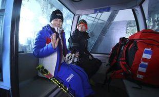 Le slalom géant dames, avec la Française Tessa Worley, a été reporté lors des JO de Pyeongchang, le 12 février 2018.
