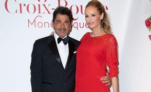 Adriana Karembeu et son mari, Aram Ohanian, le 27 juillet à Monte-Carlo.