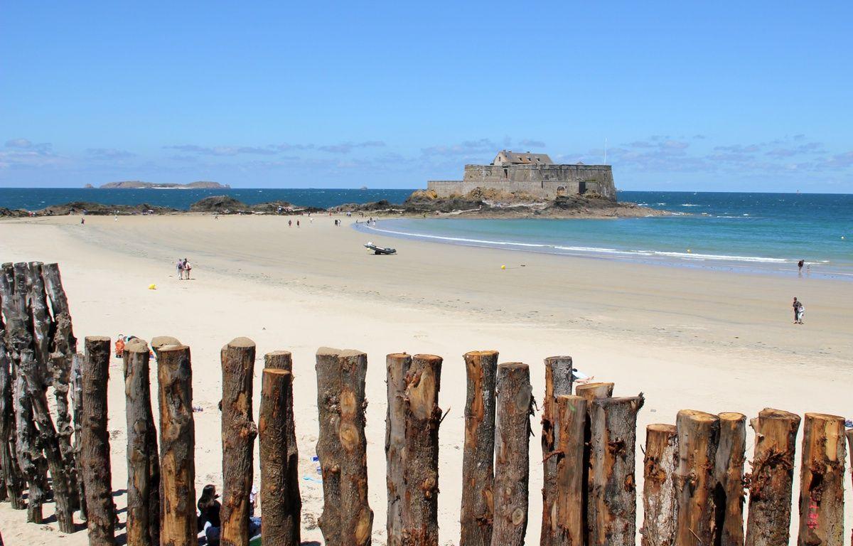 La plage du Sillon, à Saint-Malo, ici en juillet 2014. – C. Allain / APEI / 20 Minutes