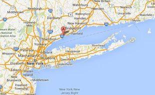Google map de Norwalk, Connecticut, aux Etats-Unis.