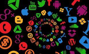 Farandole de logos de réseaux sociaux