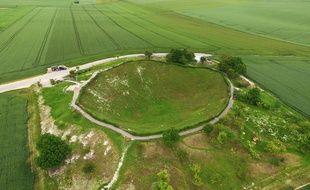 le cratère de la Boisselle, dans la Somme.