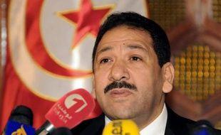 Le ministre tunisien de l'Intérieur Lotfi Ben Jeddou à Tunis le 4 février 2014