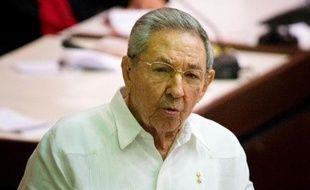 Le président cubain Raul Castro au Parlement à La Havane le 20 décembre 2014