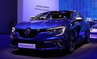 La version 2016 de le Renault Mégane présentée aujourd'hui au salon de Francfort
