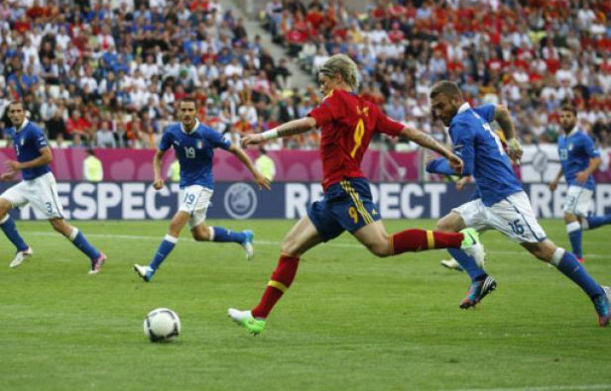 L'Espagnol Fernando Torres contre l'Italie, le 10 juin 2012 à Gdansk. – J.Medina / REUTERS