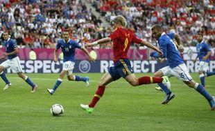 L'Espagnol Fernando Torres contre l'Italie, le 10 juin 2012 à Gdansk.