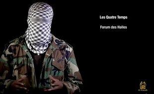 Capture d'écran d'un Shebab appelant à frapper deux centres commerciaux en Ile-de-France.