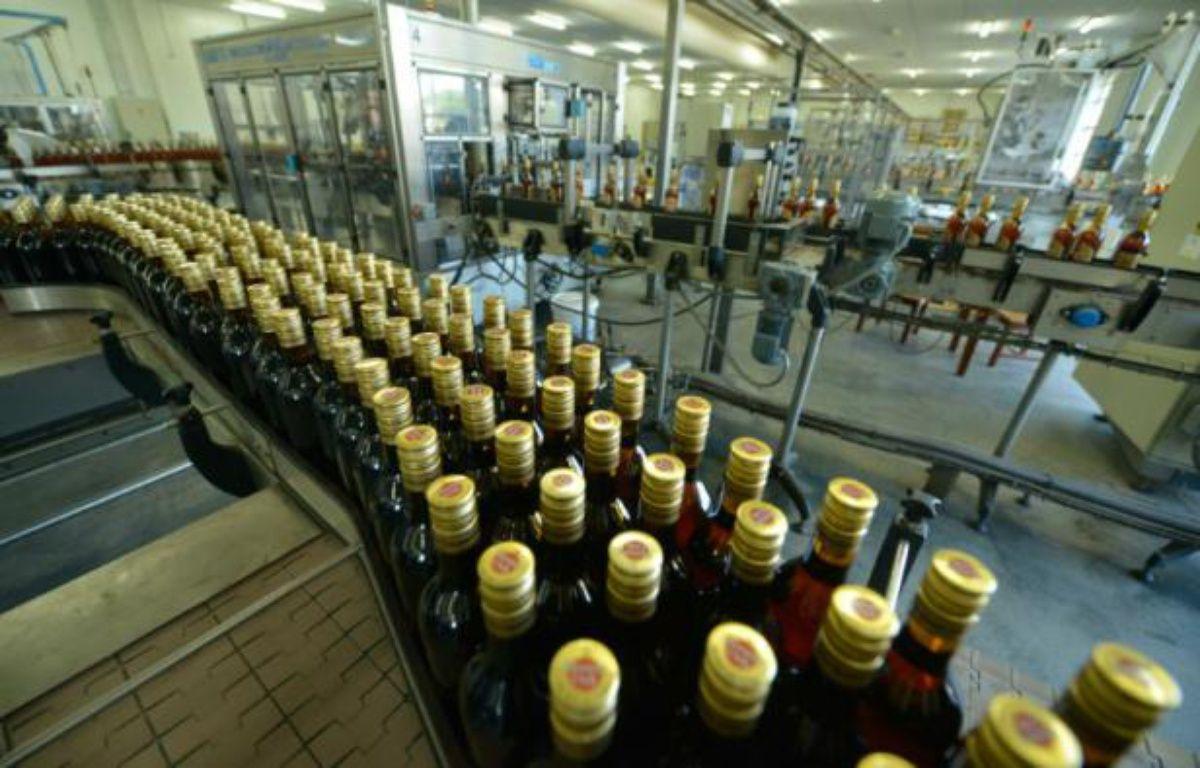Une usine de rhum Havana Club, à San Jose de las Lajas, à Cuba, le 22 novembre 2013 – ADALBERTO ROQUE AFP