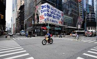 Pouvoir rouler au milieu de la route à vélo à Manhattan c'est : rare.
