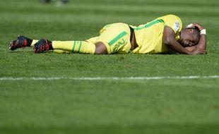 Nakoulma à terre... A l'image du FC Nantes ce dimanche.