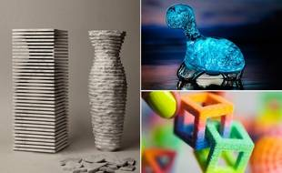 Le vase Introverso 2 de Paolo Ulian et Moreno Ratti, le Dino Pet de Biopop et le sucre imprimé en 3D de Sugar Lab.