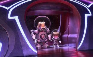 Scrat et son  fidèle gland dans L'âge de glace, les lois de l'univers