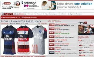 Le site allpaname.com a dévoilé les maillots 2013-2014 du PSG.