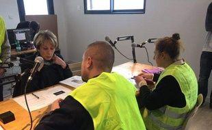 """Lors du lancement de la webradio des """"gilets jaunes"""" du Tarn-et-Garonne"""