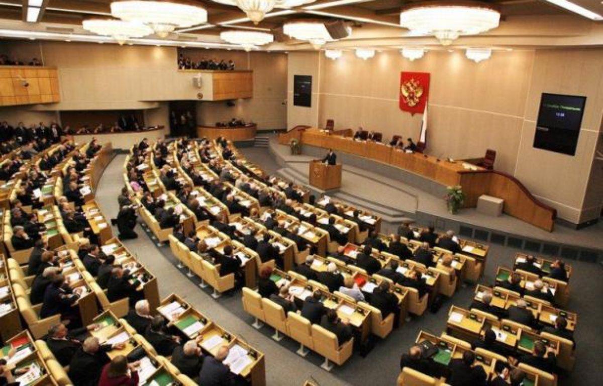 """La Douma russe a adopté vendredi en première lecture un projet de loi qui qualifie d'""""agents de l'étranger"""" et place sous contrôle les ONG ayant un financement étranger et une activité """"politique"""", une initiative dénoncée comme un nouveau pas pour écarter toute critique. – Alexey Sazonov afp.com"""