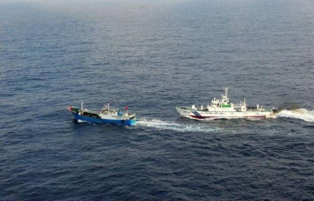 648x415 navire garde cotes japonais d poursuit 2 fevrier 2013 chalutier chinois surpris eaux japonaises