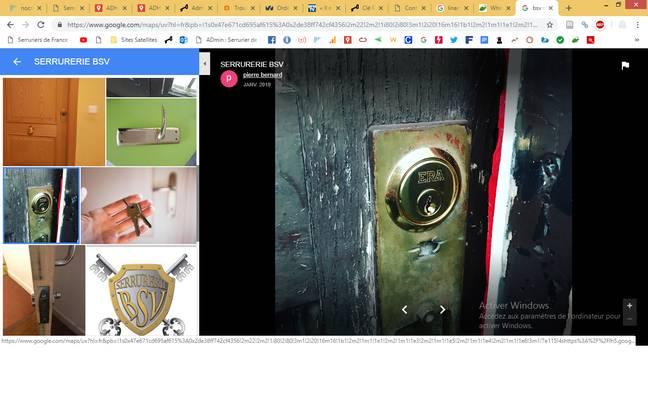 Photos ajoutées pas des personnes mal intentionnées sur les profils Google d'artisans serruriers. (2)