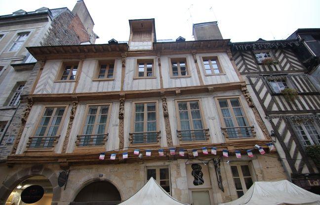 Un immeuble à pan de bois, ici dans la rue Saint-Georges, à Rennes.