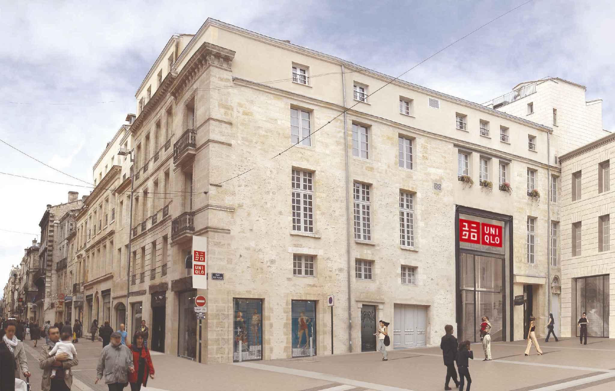 bordeaux uniqlo va s 39 installer rue porte dijeaux. Black Bedroom Furniture Sets. Home Design Ideas