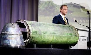 Une partie du missile BUK, lancé sur le MH17.