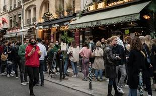 La rue de Buci à Paris, le 21 février 2021.