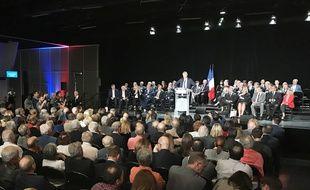 Le candidat à la présidence des Républicains, le 25 octobre 2017 à Mandelieu