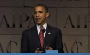 Barack Obama prend position sur l'Iran, le 4 juin 2008.