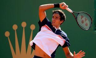 Pierre-Hugues Herbert a éliminé Kei Nishikori, au 2e tour du Masters 1000 de Monte Carlo, le 17 avril 2019.