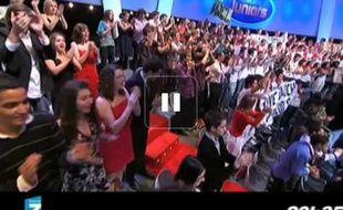 Capture d'écran du zapping de la première soirée sans pub après 20h sur France Télévisions