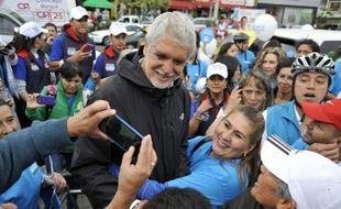 Le candidat à la mairie de Bogota, Enrique Penalosa le 18 octobre 2015 à Bogota