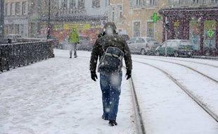 De la neige à Strasbourg en 2010 (illustration).