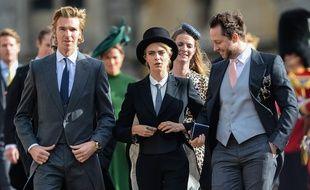 La top Cara Delevingne au milieu des convives lors du mariage de la princesse Eugenie et Jack Brooksbank à Windsor