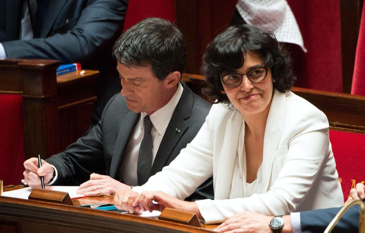 Manuel Valls et Myriam El Khomri à l'Assemblée nationale, le 5 juillet 2016. – VILLARD/SIPA