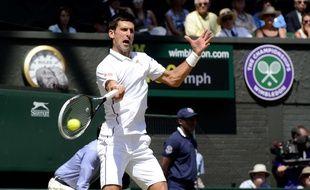 Novak Djokovic, vainqueur de Dimitrov en demi-finale de Wimbledon, le 4 juillet 2014.