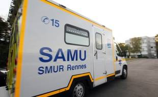 Une ambulance du Samu de Rennes part en intervention. Illustration.