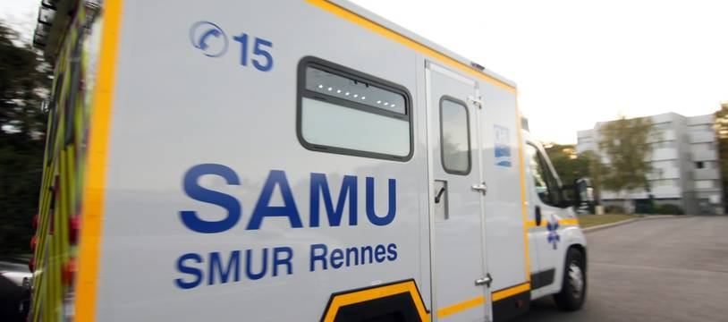Une ambulance du Samu de Rennes part en intervention. Illustration.