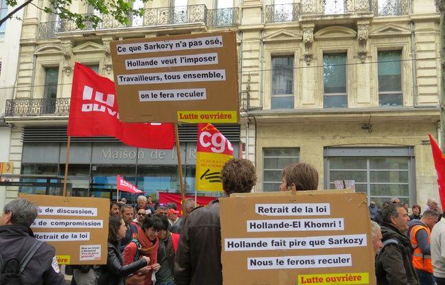 La manifestation contre la loi travail à Marseille
