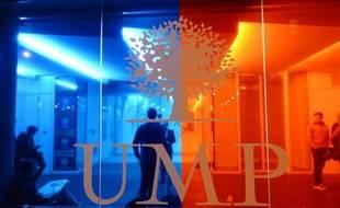 Le siège de l'UMP le 26 mai 2014 à Paris