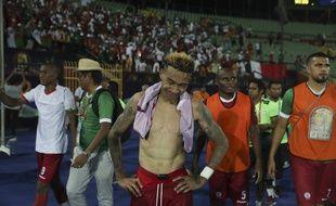 Les joueurs de Madagascar déçus après leur élimination par la Tunisie en quarts de finale de la CAN, le 11 juillet 2019.