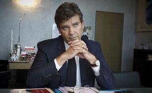 Arnaud Montebourg, ministre du redressement productif, en interview dans son bureau à Bercy, le 16 septembre 2013 à Paris.