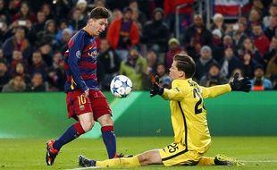 Lionel Messi face à la Roma, le 24 novembre 2015