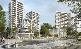 Image de synthèse du projet Loire en scène sur l'île de Nantes.
