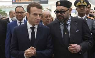 Le roi du Maroc Mohammed VI et le président français Emmanuel Macron. L'état des relations entre le Maroc et la France pose question après les révélations de l'affaire d'espionnage Pegasus.