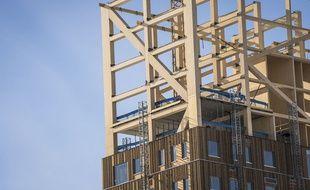 La tour de Mjøs, en pleine construction, sera inaugurée en mars 2019 en Norvège.
