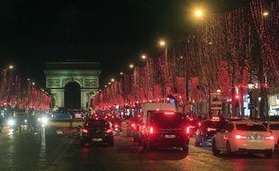 Les Champs-Elysées, en décembre 2019.